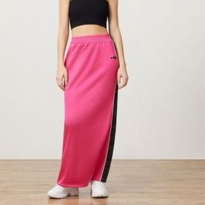 NEW Fila • Farina Pink Button Side Maxi Skirt